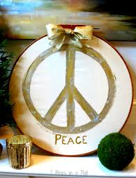 pottery barn inspired peace symbol 2 bees in a pod