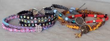 bracelet macrame patterns images How to macram a hemp bracelet rings and things jpg