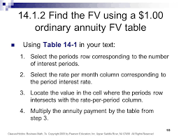 Ordinary Annuity Table Chapter 14 Annuities And Sinking Funds Ppt Video Online Download