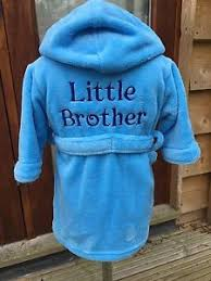 boys dressing gown 12 18m to 5 6y little brother gift design