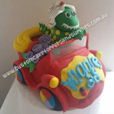 car cake toppers dorothy wiggles big car cake topper custom cake toppers and