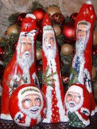 143 best santa s carved painted images on