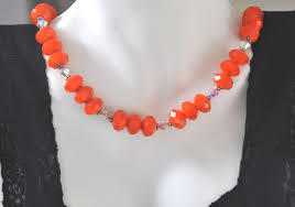 orange beaded necklace images Necklace jewelry by irina sale necklaces earrings rings jpg