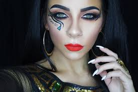 cleopatra halloween makeup tutorial tinakpromua youtube