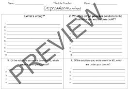 Grief Worksheets Depression Worksheet