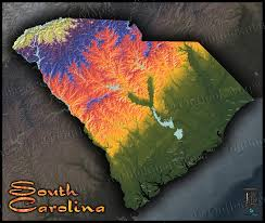 Topographical Map Of Tennessee by South Carolina Terrain Map Artistic Colorful Topography