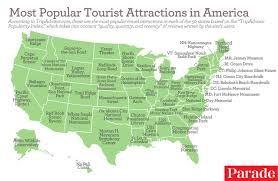 Hollywood Usa Map by The Most Popular Tourist Attractions In All 50 States According