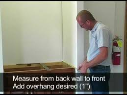 How To Install Bathroom Vanity Top Marcraft Inc How To Measure And Install A Vanity Top Enclosed