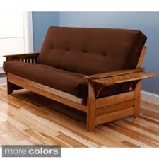 somette phoenix queen size futon sofa bed with hardwood frame and