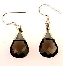 smoky quartz earrings smokey quartz earrings smoky quartz teardrop faceted earrings