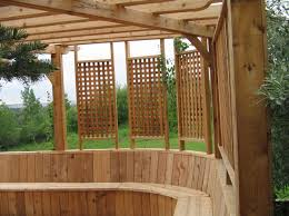 deck with a privacy wall 3 backyard ideas pinterest decking