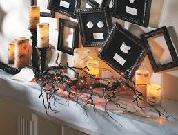twig home decor cool fireplace shelf using best halloween decor of led ls on
