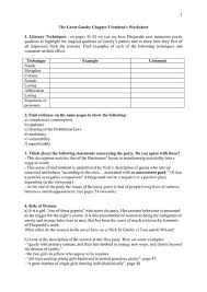 great gatsby student workbook answers 100 images great gatsby