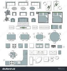 set top view interior icon design stock vector 608293979