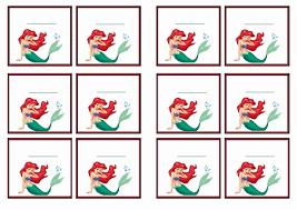 8 best images of mermaid free printable name tags little mermaid