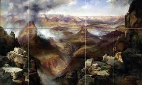 grand canyon colorado river t moran tile mural backsplash art