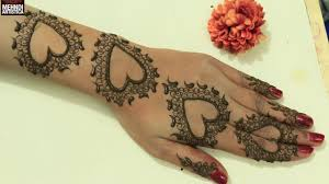 cute romantic valentines day special henna mehndi designs easy
