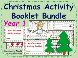 year 1 christmas maths activity booklet by blossomingminds