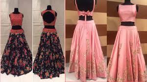 designer party wear evening long gown dress croptop lehenga