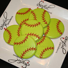 softball baseball cookies made super easy video tutorial