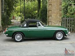british racing green 1968 mgb roadster british racing green