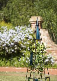 kaleidoscope garden obelisk in metal and glass gardeners com