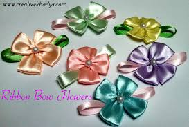 ribbon flowers ribbon flower headbands forsale