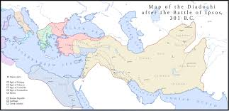 Map Of The World Bc by Map Of Diadochi Kingdoms After The Battle Of Ipsos 301 Bc