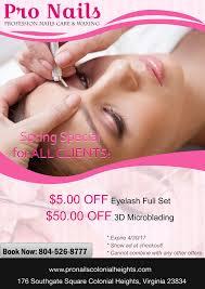 eyebrow waxing and nail salons near me nail salon 23834 pro nails of colonial heights va acrylic nails