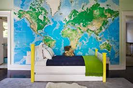 old world map graphic art canvas