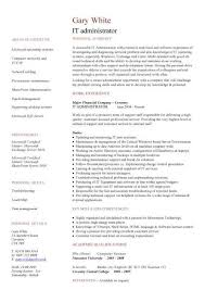 it resume template it resume template 7 it administrator cv nardellidesign