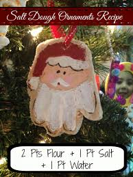 two it yourself salt dough recipes for ornaments handprint santa