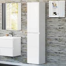 Bathroom Cabinet With Mirror White Gloss Tall Bathroom Cabinet With Cabinets Wall Mounted And