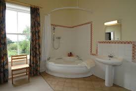 Corner Bathroom Showers Brown White Bathroom Corner Bath Shower Curtain Lentine