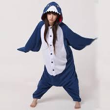 jumpsuit costume adults flannel shark kigurumi costumes onesie