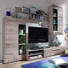 Wohnzimmerschrank Verschieben Wohnwand Skin Wohnzimmer Anbauwand In San Remo Eiche Dunkel Mit