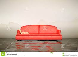 water damage sofa stock illustration image 65762134