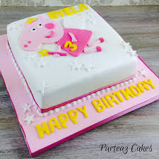 peppa pig birthday cakes peppa pig cake fairy theme for a birthday delivered free
