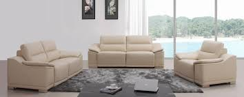divani casa serenella modern beige leather sofa set