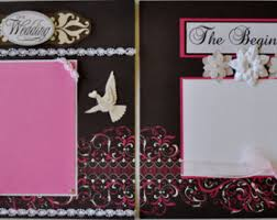 wedding scrapbook albums 12x12 custom made wedding scrapbook album you choose colors