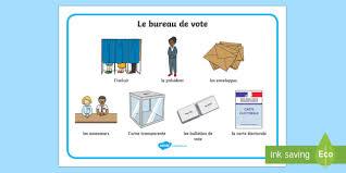 bureau fr set de mots le bureau de vote les élections