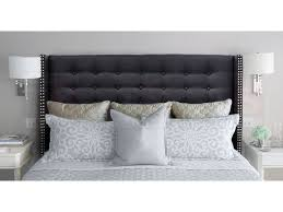 king size fabric studded wing bed head mayfair collection