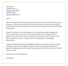 what should be in a cover letter for job 19 resume