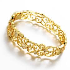 ladies gold bracelet pattern images 24k gold color bangles for women rose gold bracelets wedding party jpg