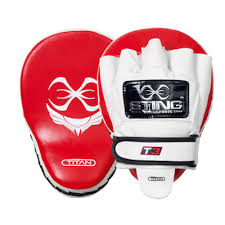 sting titan neo gel leather focus mitt pro fit boxing