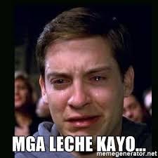 Meme Generator Crying - mga leche kayo crying peter parker meme generator
