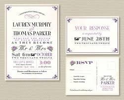 printable wedding invitation u0026 rsvp postcard vintage poster