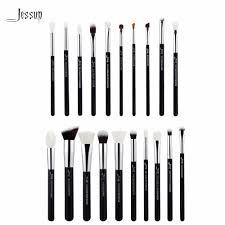 jessup black silver professional makeup brushes set make up brush