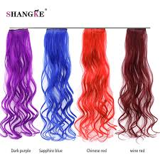 blue hair extensions shangke hair colored 2 clip in hair extensions purple