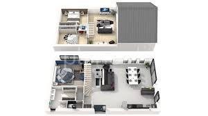 plan maison etage 3 chambres plan maison a etage 3 chambres 1 3d 360176 plan 3d plan 2d evtod